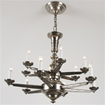 Dramatic Geometric Chandelier