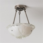 Frosted Seagrass Ceiling Light
