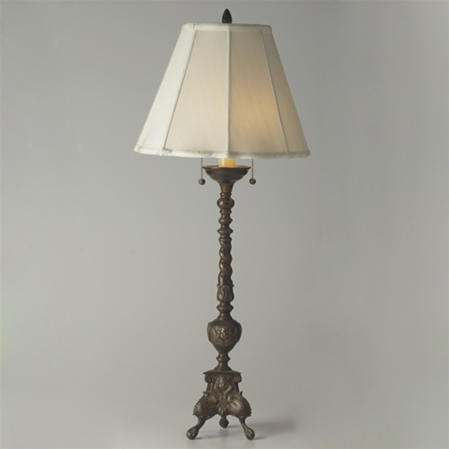 Vintage Lamps Tall Claw Foot Table Lamp From Brass Light
