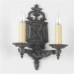 Ornate pair of sconces