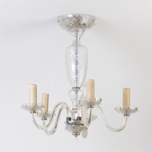 Vintage chandelier etched glass chandelier from brass light gallery alternative views mozeypictures Image collections