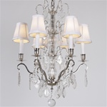 Vintage Crystal Tears Demi Chandelier