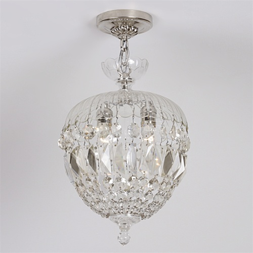 Cut crystal umbrella chandelier vintage lighting light fixtures alternative views mozeypictures Image collections