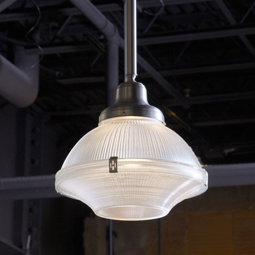 Satine Ellipse Holophane Pendant Antique Industrial Lighting