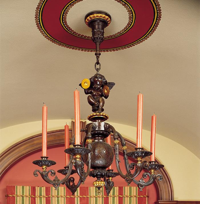 Vintage originals lighting portfolio vintage originals lighting portfolio cast bronze wax candle chandelier image aloadofball Gallery