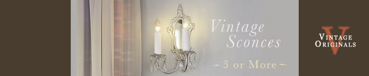 Vintage Originals - Wall Sconces (3+) Header Image