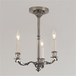 Colonial Tri-Candle Chandelier