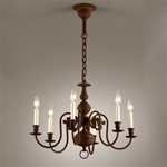 Rustic Ball Chandelier