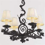 Iron Vine and Spiral Four Light Chandelier