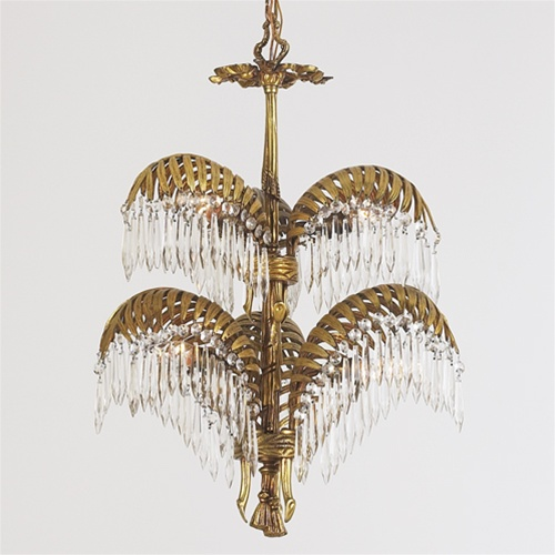 Crystal Fern Chandelier