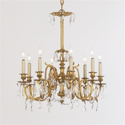 Ancient Meander Motif Vintage Chandelier