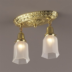 Polished Brass Oval Flush Mount