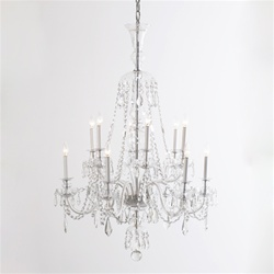Late Georgian Vintage Crystal Chandelier