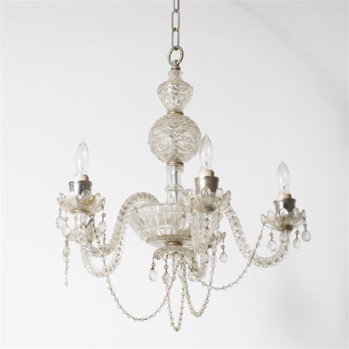 Stylized crystal ball chandelier from brass light gallery stylized crystal ball chandelier aloadofball Gallery