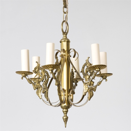 Fertile Dragon Chandelier from Brass Light Gallery