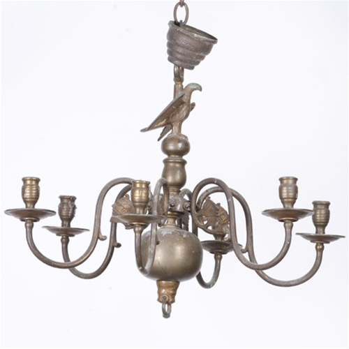 Vintage chandelier colonial wax candle chandelier from brass light alternative views aloadofball Choice Image