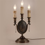 Oval Tri Candle Table Lamp
