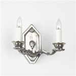 Plated brass heptagon sconce
