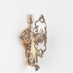 Beautiful polished brass medallion sconce