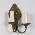 Pair of Late Empire Hand Painted Sconces