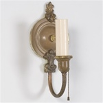 Pair of French Fleur di Lis Sconces