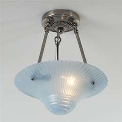 Blue Chinese Fan Ceiling Light