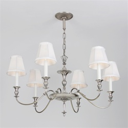 Restored 6 Candle Fountain Chandelier
