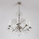 Vintage Crystal Fountain Chandelier