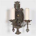 Tasseled Shield Sconce (QTY:1)