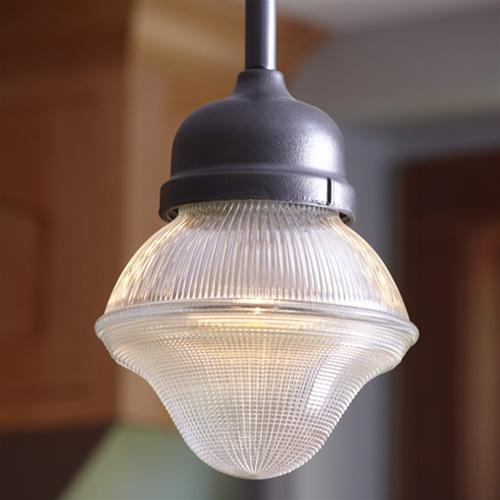 One ... & Baraboo Acorn Prismatic Pendant | Antique Industrial Lighting ...