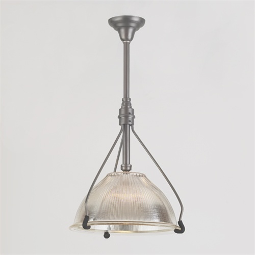 Alternative Views & French Inspired Holophane Pendant | Antique Industrial Lighting