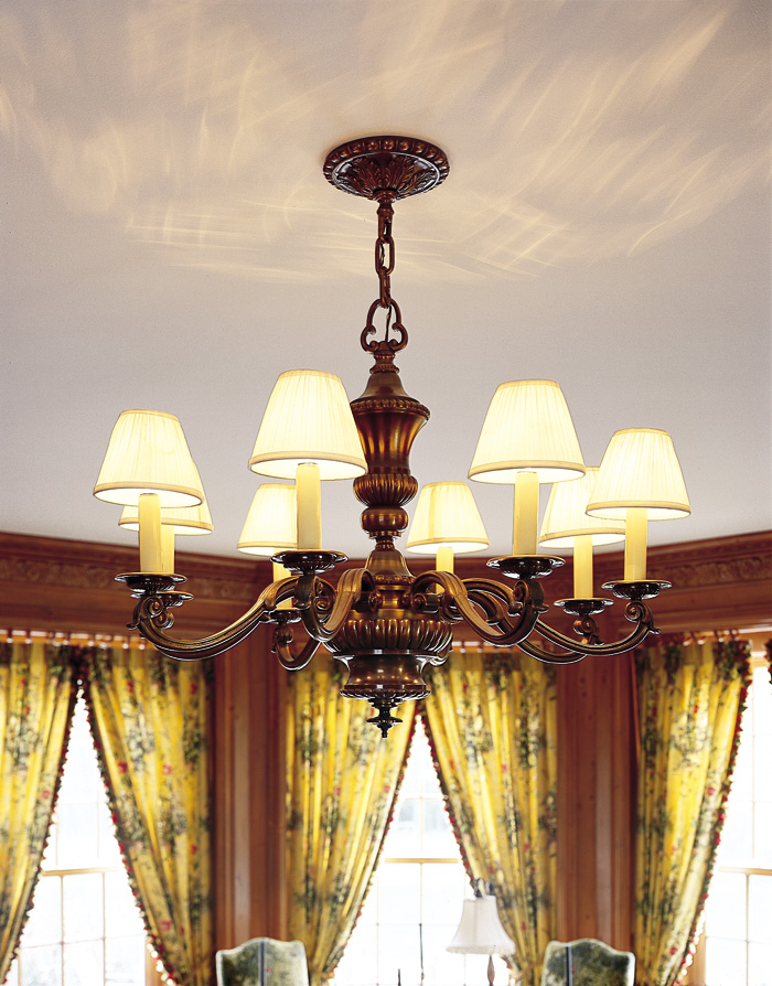 Vintage Originals Lighting Portfolio - Stately Cast Bronze Electric Chandelier Lighting Library Image
