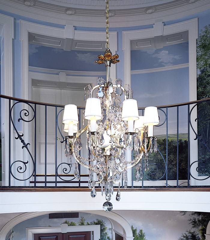 Vintage Originals Lighting Portfolio - Vintage Crystal Chandelier Lighting Stairs Image