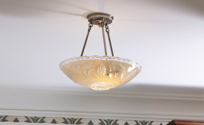 Vintage Originals Lighting Portfolio - Vintage Glass Bowl Ceiling Fixture