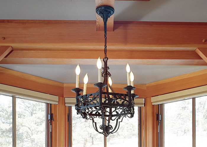 Vintage Originals Lighting Portfolio -Vintage Iron Chandelier Lighting Dining Table Image